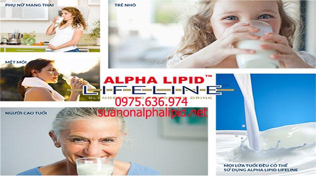 Công dụng của sữa non alpha lipid lifeline cho mọi đối tượng
