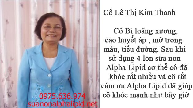 Nhân chứng sữa non alpha lipid