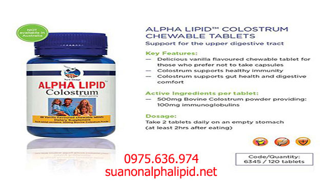 Alpha Lipid Colostrum Tablets