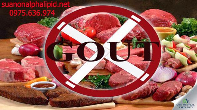 Những thực phẩm kiêng ăn cho người bị bệnh gout